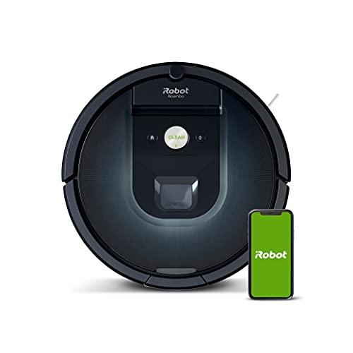 iRobot Roomba 981 WLAN-fähiger Saugroboter mit zwei Gummibürsten, Lädt auf und reinigt weiter,...