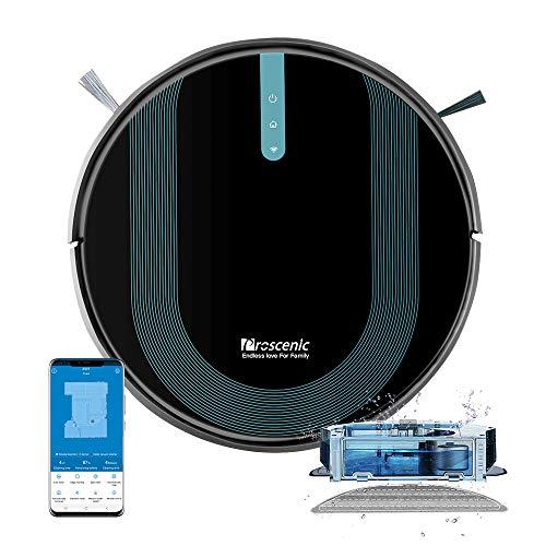 Proscenic 850T WLAN Saugroboter, Staubsauger Roboter, Alexa & Google Home & Appsteuerung,...